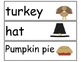 Thanksgiving picture word cards to go with Thanksgiving decodable