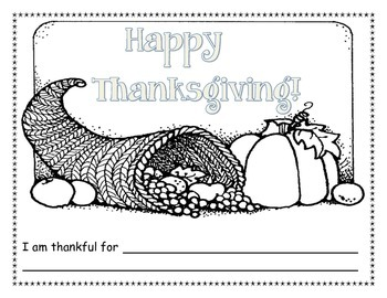 Thanksgiving place mat coloring page
