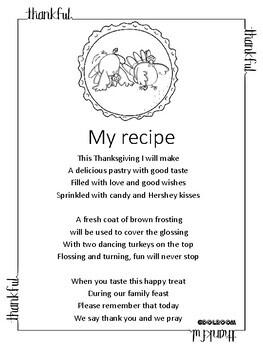 Thanksgiving poem: My recipe
