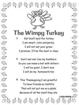 Thanksgiving poem: The wimpy turkey