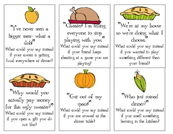 Thanksgiving pragmatic cards- What should you say?