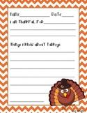 Thanksgiving printable handwriting worksheet