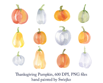 Thanksgiving pumpkin clipart, pumpkin illustration
