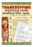 Thanksgiving reading and vocabulary games for beginners, ESL English primary