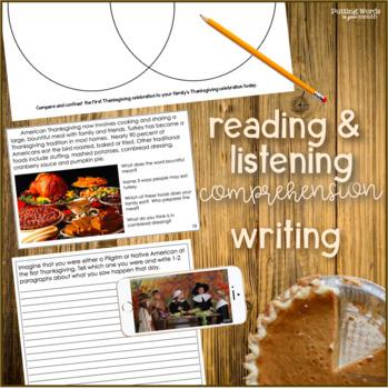 Thanksgiving {responding to non-fiction text & more!}