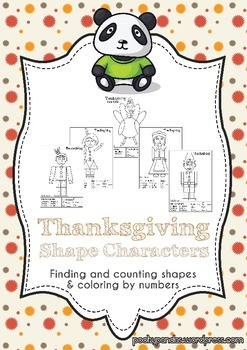 Thanksgiving shape characters
