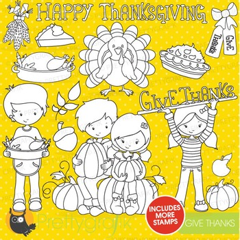 Thanksgiving stamps commercial use, vector graphics, images - DS720