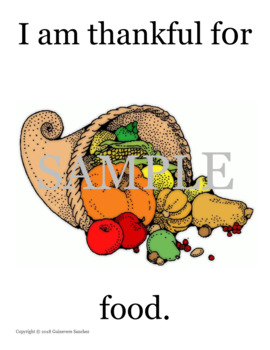Thanksgiving story that students can read, draw and re-create