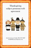 Thanksgiving subject pronoun/verb agreement FREEBIE