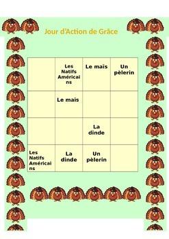Thanksgiving Italian, Spanish and French Sudoku