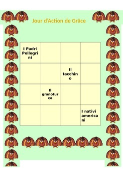 Thanksgiving Italian, Spanish and French Sudoku