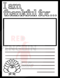 Thanksgiving template - I am thankful for...