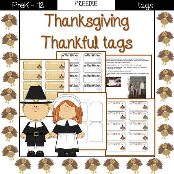 Thanksgiving thankful tags