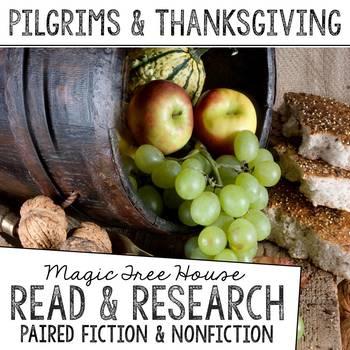 Thanksgiving & the Pilgrims Foldable Novel Study Unit