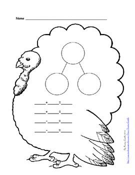 Thanksgiving theme -Blank Number Bonds