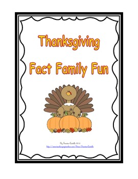 Thanksgiving theme - Fact Families