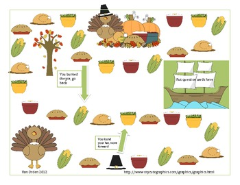 Thanksgiving theme game board