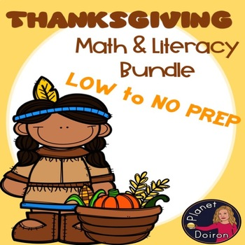 Thanksgiving theme math and ELA 4th and 5th grade packet