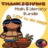 Thanksgiving theme Math and Literacy Resource Fall Autumn