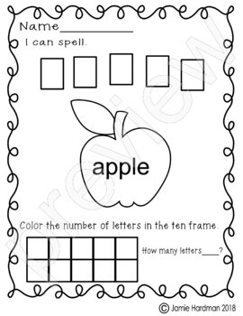 Thanksgiving theme words-print and count - Kindergarten
