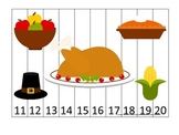 Thanksgiving themed 11-20 Number Puzzle preschool learning