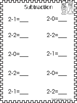 Thanksgiving themed Printable Subtraction Worksheets. Adding Numbers 1-10