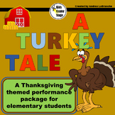 Thanksgiving themed script for single class or large group musical performance