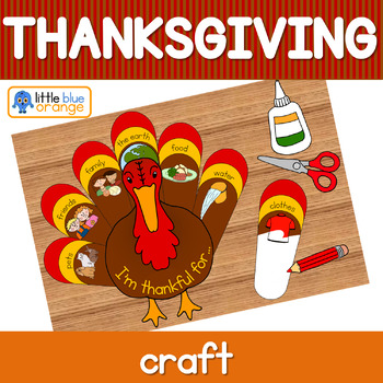 I am thankful for - Thanksgiving tukey craft