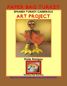 Thanksgiving Spanish turkey art project - ¡EL PAVO!
