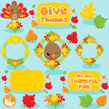 Thanksgiving turkey clipart commercial use, vector graphics, digital  - CL1036