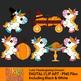 Thanksgiving unicorns clip art