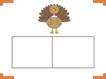 Thanksgiving vocabulary,initial sound, syllables, word boxes, sentences.