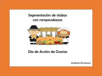 Thanksgiving vocabulary syllables Puzzles in Spanish
