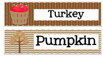 Thanksgiving vocabulary word wall