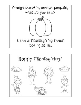 Thanksgiving, what do you see easy reader book