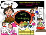 Thanksgiving with Family Clipart Pack