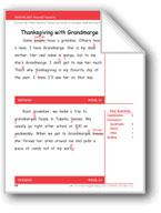 Thanksgiving with Grandmarge (Gr. 2/Week 13)