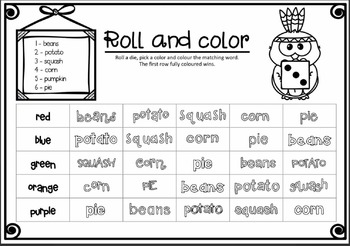 Thanksgiving words: Spelling activities - FUN and HANDS-ON!