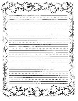 Thanksgiving writing paper pdf