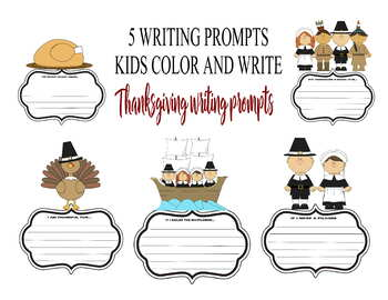 Thanksgiving writing prompts holiday turkey activities art coloring november