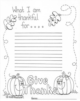 Thanksgiving writing worksheets and activities