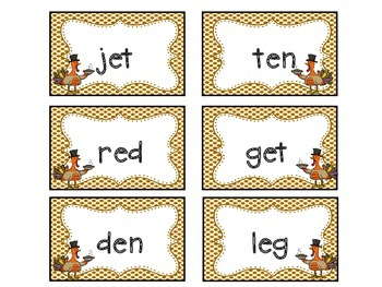 Thanksgiving/Fall Read the Room - CVC, Digraphs and Nonsense Words