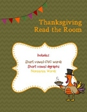 Thanksgiving/Fall Read the Room - CVC, Digraphs and Nonsen