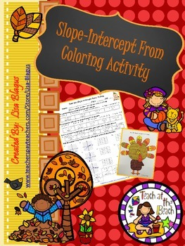 Autumn Slope Intercept Form Fun Practice