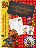 Autumn Solving 2 step Equations Coloring Activity