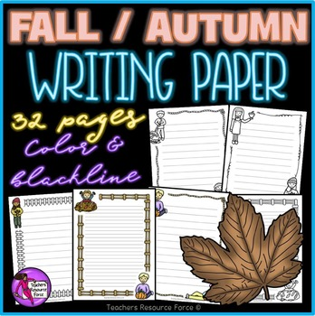 Fall / Autumn Writing Paper