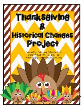 Thanksgiving, Pilgrims, & Historical Changes Project Menu