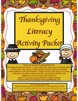 ThanksgivingLiteracyPacket