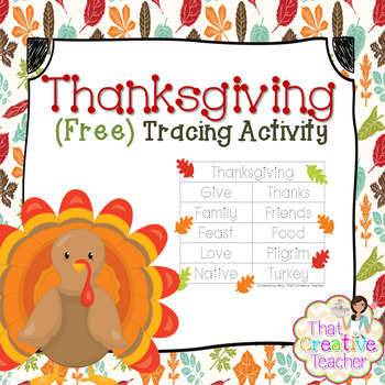 Thanksgiving Free Tracing Pages