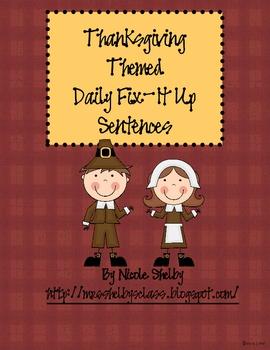 Thanksgiving/November Daily Fix-It Ups